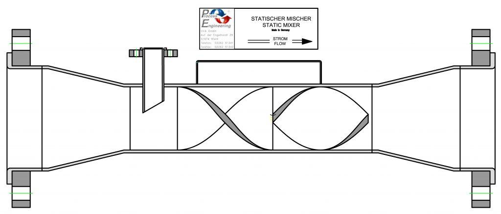 Zeichnung - Statische Mischer von U & A GmbH
