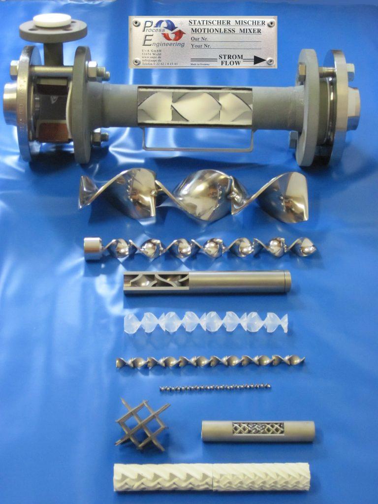 Verschiedenen Materialien - Statische Mischer von U & A GmbH